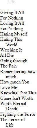 Life  Written By: Brynt