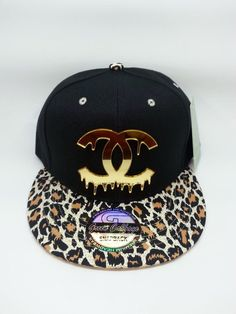 e5ad9e540de this leopard visor snapback is very unique and one of a kind ! black crown  and leopard fabric custom snapback.