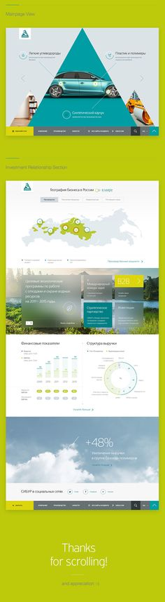 Quick concept of corporate site redesign for leading russian fuel manufacturing company SIBUR.