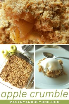 Easy Apple Crumble Recipe-This apple crumble is so easy to make and delicious with tangy apples and crispy crumbles. You'll love this classic and simple Fall dessert recipe! #applecrumble #apples #crisp #easyrecipe #fall Fall Dessert Recipes, Fall Desserts, Fruit Recipes, Apple Recipes, Just Desserts, Delicious Desserts, Easy Sweets, Healthy Sweets, Deserts