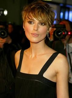 Keira Knightley hair, pixie...maybe Zee has a better face for this.