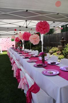 """""""It's a Girl"""" Baby Shower but could be great decor for a little girls birthday too. #babyshower #girlsbirthdayparty #tablescapes"""