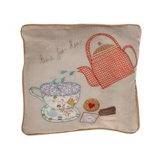 http://www.sassandbelle.co.uk/Tea Cup And Tea Pot Cushion Cover with Inner