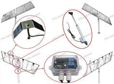 High Efficiency Solar Tracking System -Single Axis Solar Tracker Kit Sunlight for sale online Solar Panel Kits, Solar Panels, Solar Tracker, Pv Panels, Linear Actuator, Solar Power System, Tracking System, Wind Power, Solar Energy