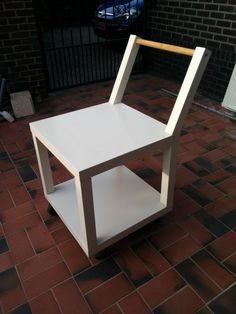 getting older and needed a small trolley to carry around your laundry or other heavier stuff? create a small and agile trolley out of two LACK tables, some wheels and a broom stick. IKEA Tarva turned Drink Bar Snakescraper