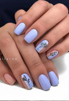 short blue Square Nails Design; natural square nails design, summer short nails square, acrylic short square nails, pretty short nails,,cute square nails; square nails acrylic; summer nails; nail polish #square #nails #summernails