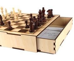 Secret Compartment Chess Set   >   I love secret compartments, hidden rooms, and underground cities...