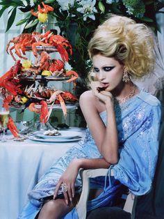 lelaid:  Anja Rubik by Miles Aldridge for Vogue Italia, October 2005