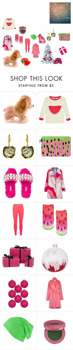 """""""Darling, are you sure you want watermelon?"""" by in-it-not-of-it ❤ liked on Polyvore featuring Dusen Dusen, Dara Ettinger, Casetify, Miu Miu, VIVETTA, Mulberry, Amara, UGG and Lipstick Queen"""