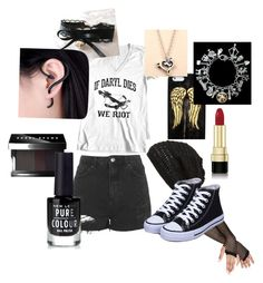 """""""Casual TWD outfit~"""" by mintmochikun ❤ liked on Polyvore featuring King & Fifth Supply Co., cutekawaii, Topshop, Dolce&Gabbana, Bobbi Brown Cosmetics, modern, Hipster, Nerdy and thewalkingdead"""