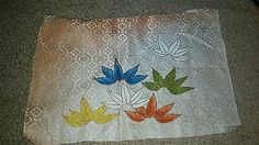 Japanese Kimono Fabric Scrap, silk, wool, furisode summer kimono type