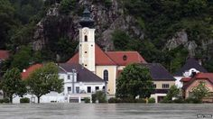 The River Danube is also carrying floodwaters: the village of Marbach, 90km west of Vienna, has been partially submerged