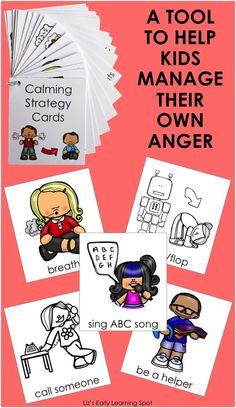 Kids need support and encouragement when learning to handle their emotions. These cards will help! They're in color and black and white. $