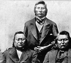 Sinkiuse-Columbia chief Moses, his nephew Chil-Lee-Leet-Sah and two other delegates sent to petition President Hayes, Washington, ca. 1879 :: American Indians of the Pacific Northwest