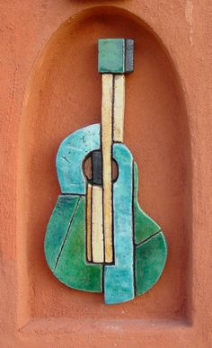 gvega - Ceramic wall art - Guitar
