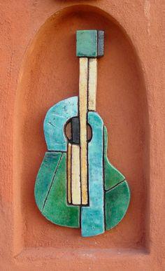 gvega - Ceramic wall art - Guitar