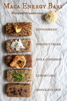 Maca Energy Bars http://www.mommypotamus.com/maca-energy-bar-recipe/