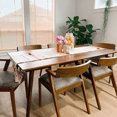 Seno Walnut Dining Table For 6 Gray Dining Chairs, Dining Table With Bench, Walnut Dining Table, Dining Table In Kitchen, Dining Room Furniture, A Table, Dining Area, Living Dining Combo, Living Room