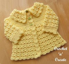 Free Baby Crochet Pattern Collared Coat UK - Adorable crochet coat pattern written in UK format.Made in a simple Shell and V stitch design .Free Baby Crochet Pattern Collard Coat - Beautiful V stitch and shell design coat with collar. Crochet Baby Sweater Pattern, Crochet Baby Jacket, Crochet Baby Sweaters, Baby Sweater Patterns, Crochet Coat, Crochet Baby Blanket Beginner, Crochet Bebe, Baby Girl Crochet, Crochet Baby Clothes