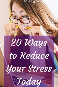 These 20 tips will help you reduce stress and anxiety in your life. There are activities you can do that will help you to better manage stress at home or at work. You can destress yourself. Working Mom Tips, Ways To Reduce Stress, Postpartum Recovery, Thing 1, Destress, Work Life Balance, Negative Emotions, Work From Home Moms, Life Advice