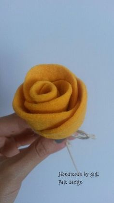 felt yellow roses