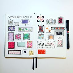 """154 Likes, 15 Comments - Hayley (@hayobujo) on Instagram: """"Making this spread taught me two things: I have too much washi tape and I have too much time on my…"""""""