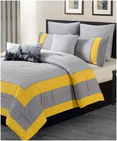 Picture Of Yellow Comforter Sets Full