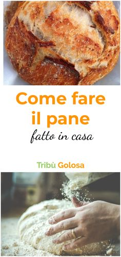 Come fare il pane fatto in casa How to make the the recipe you were looking for! Yummy Pasta Recipes, Pizza Recipes, Bread Recipes, Focaccia Pizza, Bread Cake, Easy Bread, Homemade Desserts, Soul Food, Food Porn