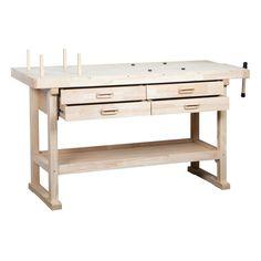 Hardwood Workbench with 4 Drawers 60