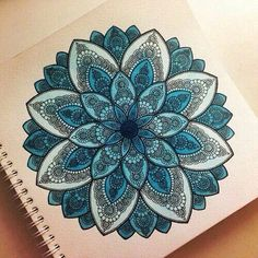 Draw flower  Style hipster  Yolo  Blue