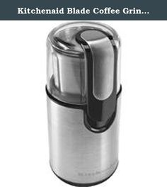 Kitchenaid Blade Coffee Grinder 2Pk. 160W motor makes quick and simple work of grinding beans for up to 12 cups of coffee. Fingertip control with clear top cover to see consistency of grinds. Markings on inside of 4 oz stainless steel bowl indicate suitable levels for 4, 8, 10, and 12 cups of brewed coffee. Dishwasher safe bowl, blade, and top cover. 8-3/4inches H x 3-15/16inches W x 4-1/4inches D. No. BCG111OB: Type: Electric, Capacity: 12 Cups of Coffee, Material: Stainless Steel, Blade...