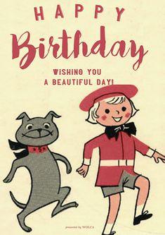 可愛くてなんだか元気のでるお誕生日画像