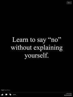 No need to explain