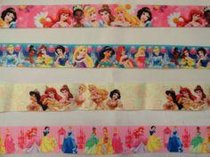 4 yards Princess cartoon printed grosgrain ribbon hair bow supplies