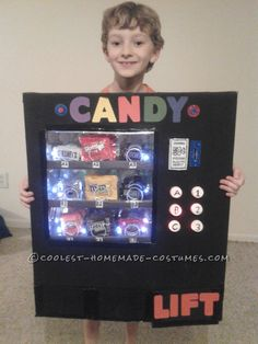 Awesome Light-Up Vending Machine Costume... Coolest Homemade Costumes