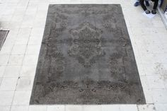 vintage over-dyed rug 200x321cm 6.5x10.5ft by galleryboga, $449.00 USD