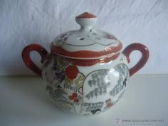 porcelana clara de huevo azucarero, pintada a m - Comprar Porcelana Japonesa Antigua en todocoleccion - 43299555