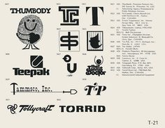 Collection of vintage logos from a edition of the book World of Logotypes. NOTE: I did not create any of this work! This book is out of print but can probably be found with some scouring. Vintage Logo Design, Graphic Design Art, Vintage Logos, Interior Design New York, Trademark Symbol, Brand Symbols, Logo Sign, Name Cards, Identity Design