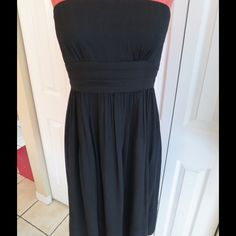 J.Crew Silk Strapless Dress Beautiful black dress! In excellent condition. Just dry cleaned. J. Crew Dresses Strapless