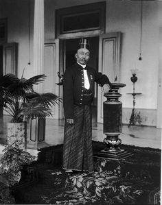 Sastroprodjo, The Surakarta Royal Court member, Java.