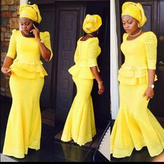 Lovely Yellow Lace Skirt and Blouse Style - DeZango Fashion Zone