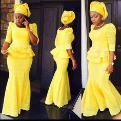 Lovely Yellow Lace Skirt and Blouse Style - DeZango Fashion Zone