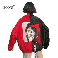 Bonu Autumn Removable Cap Denim Jacket For Women Loosen Hip Hop Unisex Blue Loose Jean Jackets Casaco Feminino Chaqueta Mujer Basic Jackets Women's Clothing