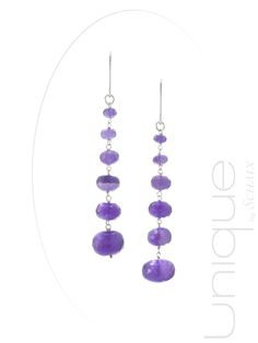 Drop of amethysts with these unique earrings !  #jewellery #jewel #gemstone #amethyst #silver #gold #ring #necklace #bracelet #earrings #madeinfrance #paris #unique #zen #passion #uniquepiece #gift