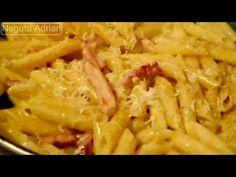 Penne carbonara with cream recipe Pasta Carbonara, Cream Recipes, Sour Cream, Macaroni And Cheese, Spaghetti, Pizza, Ethnic Recipes, Youtube, Food