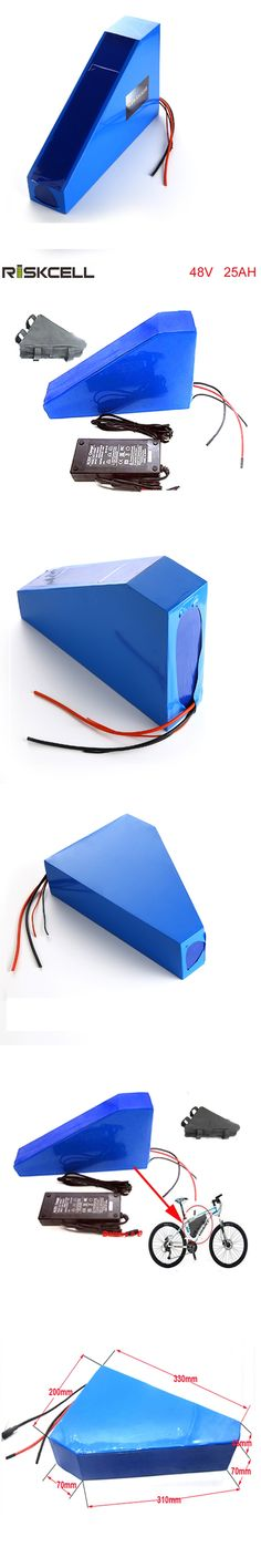 Free bag Free customs duty 48v 750w 1000W triangle e-bike battery 48v 25ah lithium ion battery pack with 30A BMS ,54.6v  charger