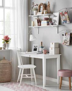 Linnea skrivbord 1695kr Baby Bedroom, Girls Bedroom, Bedroom Decor, Interior Design Inspiration, Room Inspiration, Kids Workspace, Modern Kitchen Design, New Room, Girl Room