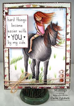 Unity Stamp Co. Design Team Member - @Carisa Zglobicki - using the Phyllis Harris Release - {Easier with you By My Side}  http://www.unitystampco.com