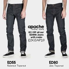 As a Thank You to all that entered our Fantastic Edwin Jeans Competition and weren't fortunate enough to win, and with the continued interest in the Jeans, Apacheonline are now providing you all with a 10% Discount Code on all Edwin Jeans for a short time only!! Simply Enter EDCOMP10 at the Apacheonline Checkout http://www.apacheonline.co.uk/brands/Edwin