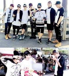 bangtan boys in USA :)